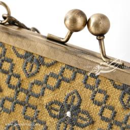 کیف بنددار خردلی ممتاز راژانه گنجه رخت