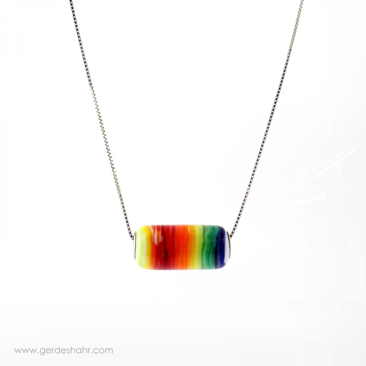 گردنبند شیشه ای رنگین کمان آرتیش زر و زیور