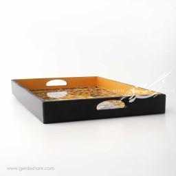 سینی مستطیل 30.40 طرح کاشی هفت رنگ آوش محصولات