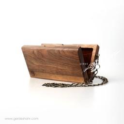 کیف چوبی بند زنجیری اورس گنجه رخت