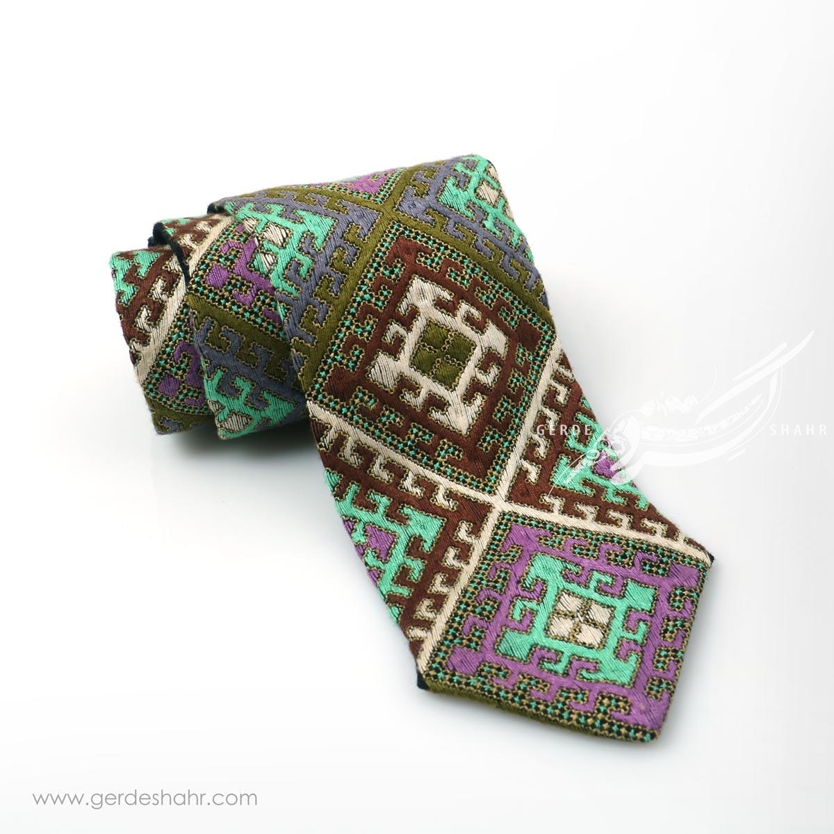 کراوات سوزندوزی طرح 8 بزمان گنجه رخت