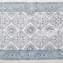 کاور کوسن نقش قالیچه ای سورمه ای بومیکا
