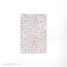 دستمال سفره نقش گلدانی قهوه ای بومیکا