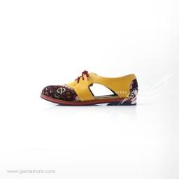 کفش دست دوز زرد سوزندوزی سایز 38 چاوان  گنجه رخت