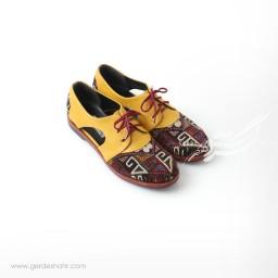 کفش دست دوز زرد سوزندوزی سایز 39 چاوان گنجه رخت