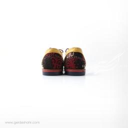 کفش دست دوز زرد سوزندوزی سایز 40 چاوان گنجه رخت