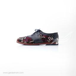 کفش دست دوز سرمه ای سوزندوزی ترکمن سایز 40 چاوان گنجه رخت