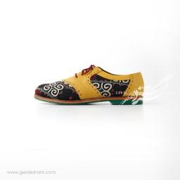 کفش دست دوز زرد سوزندوزی ترکمن 2 سایز 40 چاوان گنجه رخت
