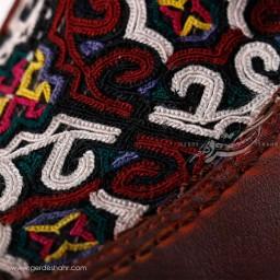 کفش مردانه چرمی دست دوز سوزندوزی قهوه ای سایز 41 چاوان - chavan