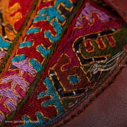 کفش مردانه چرمی دست دوز سوزندوزی قهوه ای سایز 44 چاوان-chavan