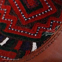 کفش مردانه چرمی دست دوز سوزندوزی عسلی سایز 42 چاوان - chavan