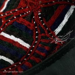 کفش مردانه چرمی دست دوز سوزندوزی سبز یشمی تیره سایز 43 چاوان -  chavan
