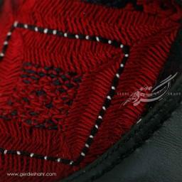 کفش مردانه چرمی دست دوز سوزندوزی سبز یشمی تیره سایز 41 چاوان -  chavan
