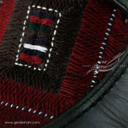 کفش مردانه چرمی دست دوز سوزندوزی سبز یشمی تیره سایز 42 چاوان -  chavan