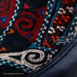 کفش کالج مردانه چرمی دست دوز سوزندوزی سورمه ای سایز 42 چاوان -  chavan