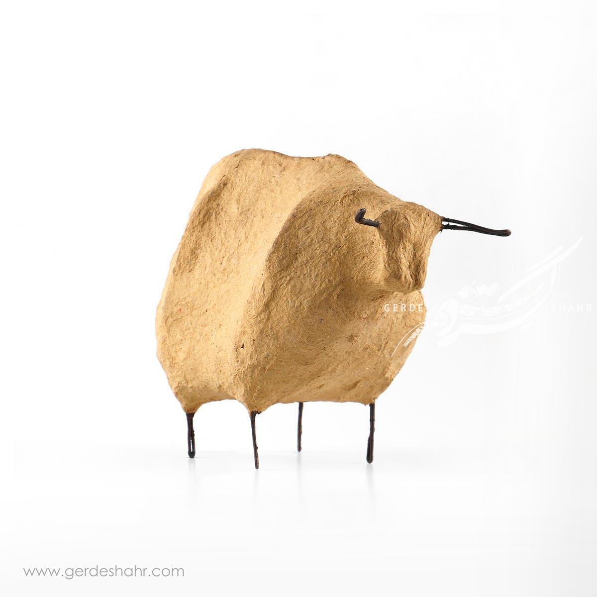 مجسمه پاپیه ماشه گاو کوچک داچی محصولات