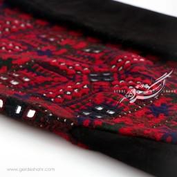 کیف مستطیل چرم و سوزندوزی ترکمن دوز گنجه رخت