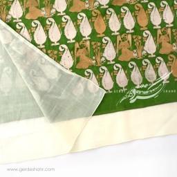 شال سبز سرو و فرشته عرض 70 گدار گنجه رخت