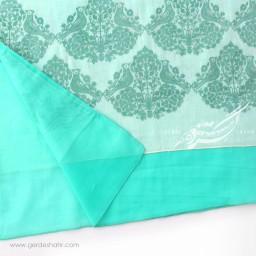 شال سبز آبی روشن مرغ باران عرض 50 گدار گنجه رخت