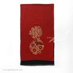شال قرمز نقش طاووس عرض 50 گدار گنجه رخت
