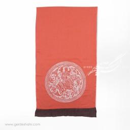 شال نارنجی نقش زن عرض 50 گدار گنجه رخت