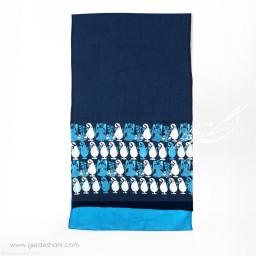 شال سورمه ای سرو و فرشته عرض 50  گدار گنجه رخت