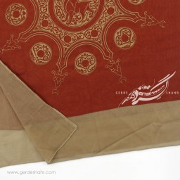 شال نارنجی تیره خورشید ایرانی عرض 50 گدار گنجه رخت