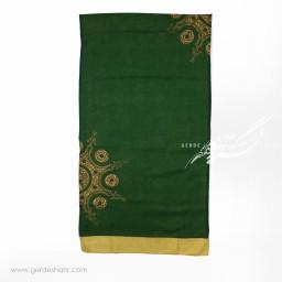 شال سبز تیره خورشید ایرانی عرض 50 گدار گنجه رخت