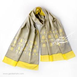 شال خاکستری روشن گلستان عرض 50 گدار گنجه رخت
