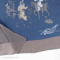 شال آبی بهرام و آزاده عرض 50 گدار گنجه رخت