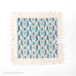 رومیزی طرح گلستان آبی سایز 50 گدار محصولات