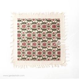 رومیزی طرح گلستان قرمز سایز 50 گدار محصولات