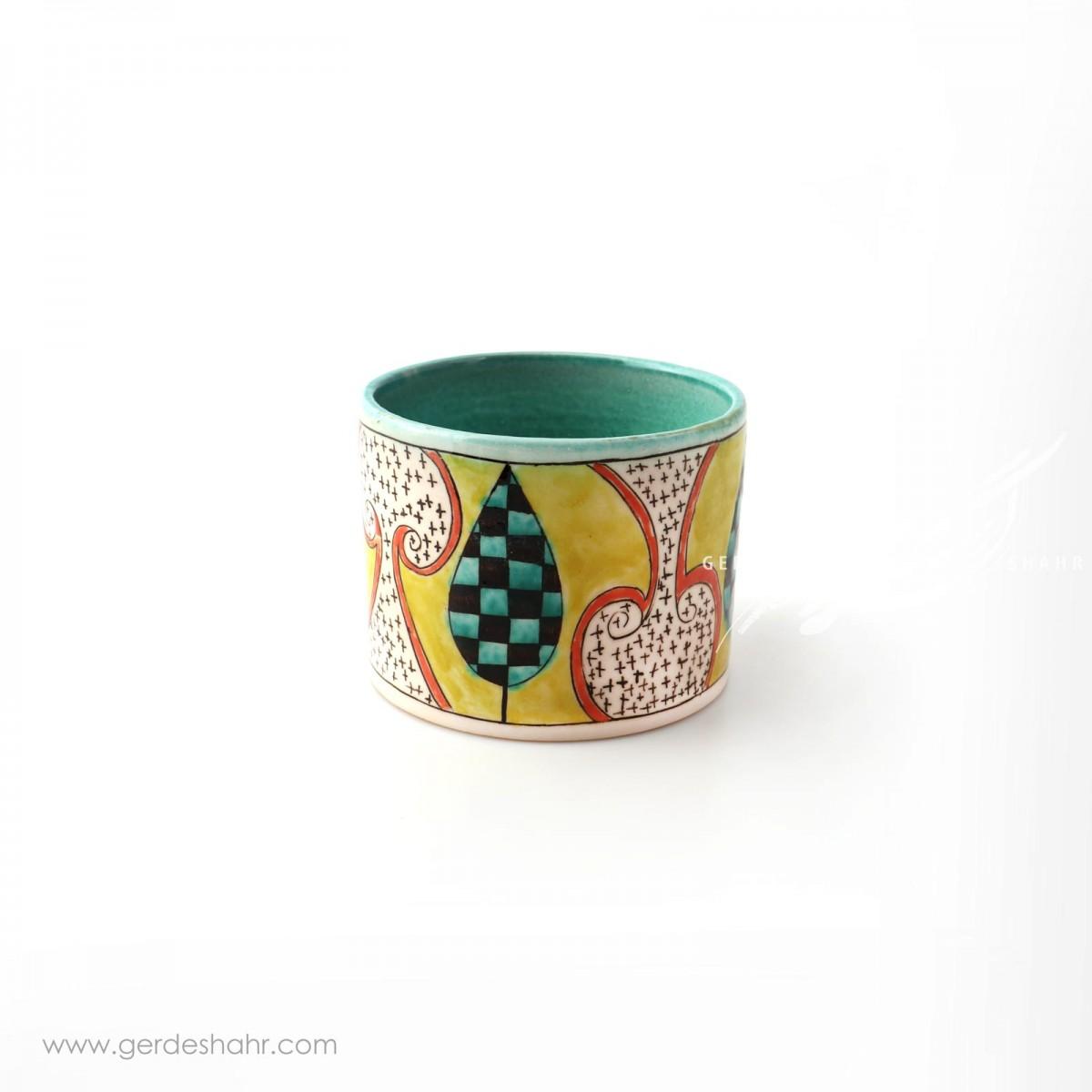 ظرف استوانه ای سرو گل محمدی محصولات