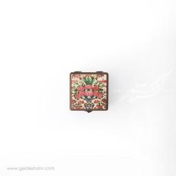جعبه چوبی نقش گلدان سایز 10 هفتگان جعبه و صندوقچه