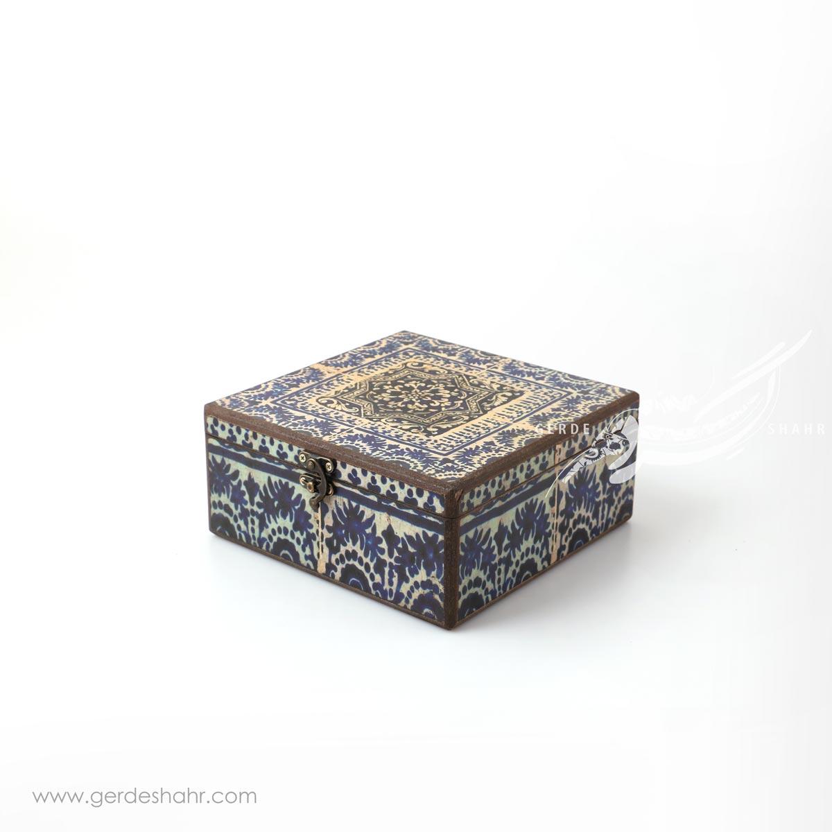 جعبه چوبی کاشی آبی سایز 20 هفتگان محصولات