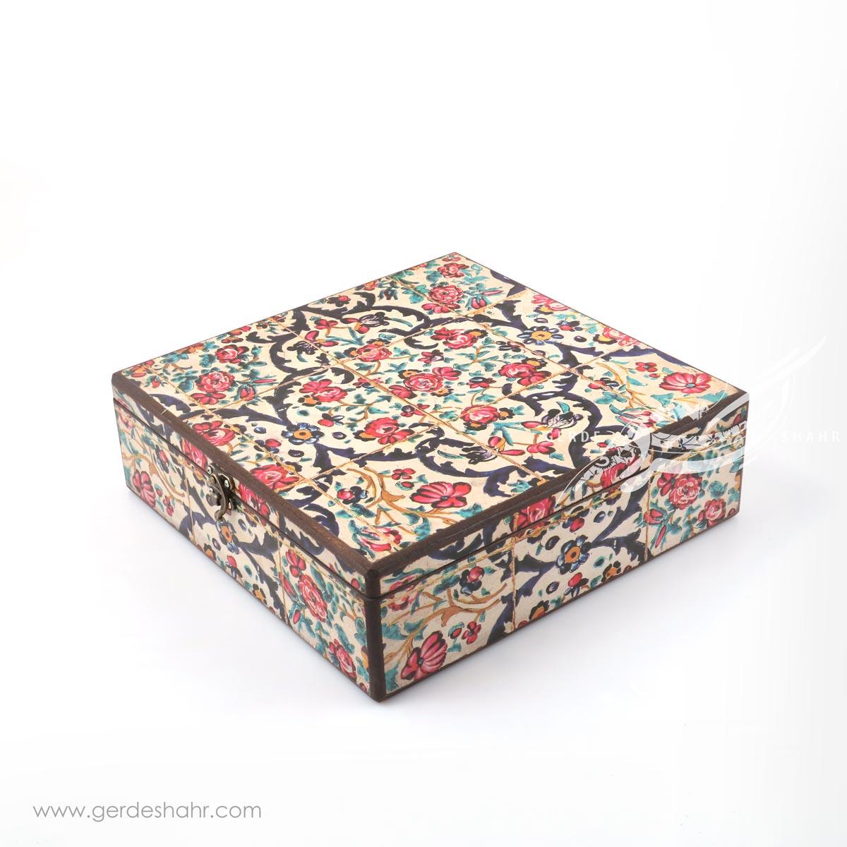 جعبه چوبی نوای گل سایز 30 هفتگان