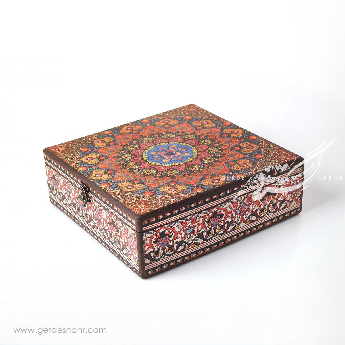 جعبه چوبی اسلیمی ترنج سایز 30 هفتگان محصولات