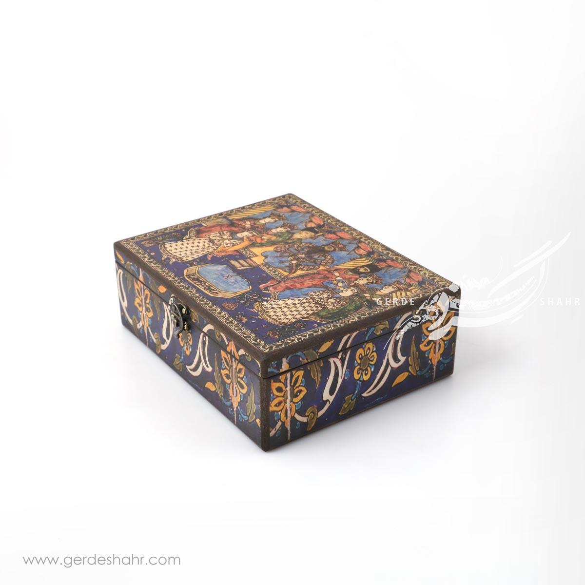 جعبه چوبی اجلاس شاهی سایز 20*25 هفتگان محصولات