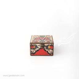 جعبه چوبی نقش گلدان سایز 15 هفتگان جعبه و صندوقچه