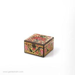 جعبه چوبی نقش گلدان 2 سایز 15 هفتگان اکسسوری
