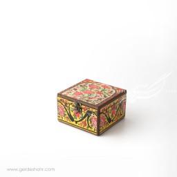 جعبه چوبی نقش گل و مرغ سایز 1۵ هفتگان اکسسوری