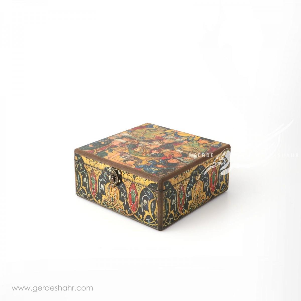 جعبه چوبی بزم شاهی سایز ۲۰ هفتگان جعبه و صندوقچه