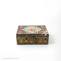 جعبه چوبی دریچه سایز 20*25 هفتگان جعبه و صندوقچه