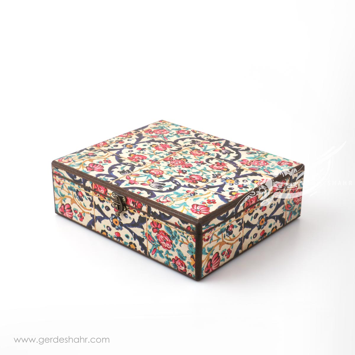 جعبه چوبی نوای گل سایز 25*30 هفتگان اکسسوری