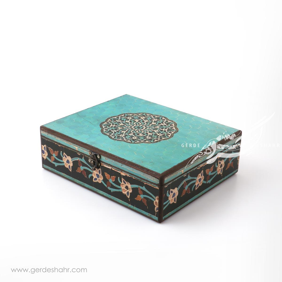 جعبه چوبی ایوان سایز 25*30 هفتگان اکسسوری