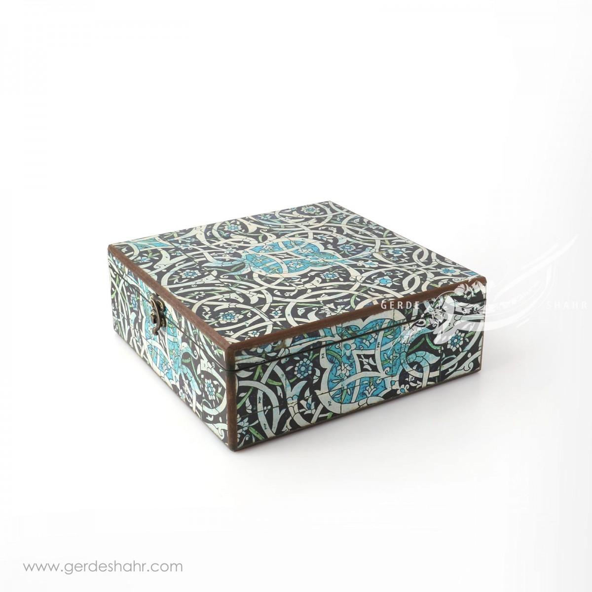 جعبه چوبی لاجورد سایز ۲۵ هفتگان جعبه و صندوقچه