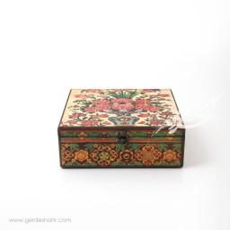 جعبه چوبی نقش گلدان 2 سایز 25 هفتگان محصولات