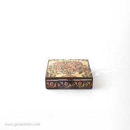 جعبه چوبی کتابی نقش گلدان هفتگان اکسسوری