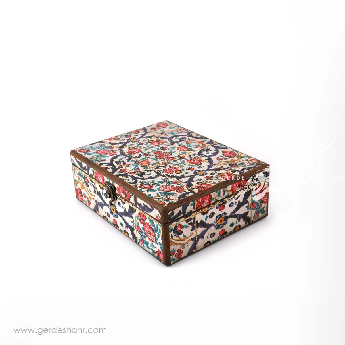 جعبه چوبی نوای گل سایز 25*20 هفتگان محصولات