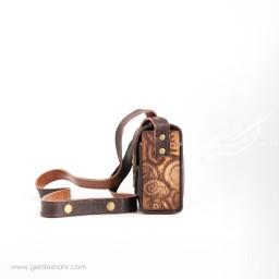 کیف دوشی شهرزاد کوچک جوان چرم گنجه رخت